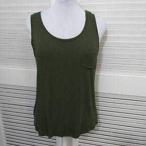 Prana Green Sleeveless Tank with Chest Pocket